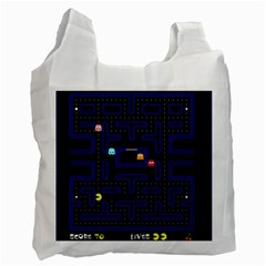 Pac Man Recycle Bag (one Side) by Valentinaart