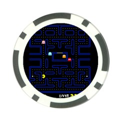 Pac Man Poker Chip Card Guard (10 Pack) by Valentinaart