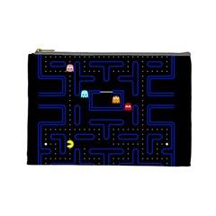 Pac Man Cosmetic Bag (large)  by Valentinaart