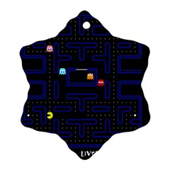 Pac Man Snowflake Ornament (two Sides) by Valentinaart
