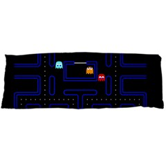 Pac Man Body Pillow Case (dakimakura) by Valentinaart