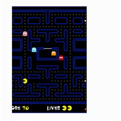 Pac Man Large Garden Flag (two Sides) by Valentinaart