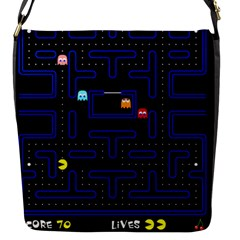 Pac Man Flap Messenger Bag (s) by Valentinaart