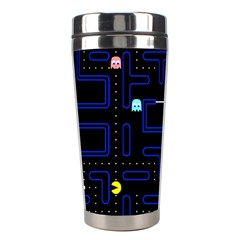 Pac Man Stainless Steel Travel Tumblers by Valentinaart