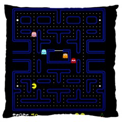 Pac Man Large Flano Cushion Case (two Sides) by Valentinaart
