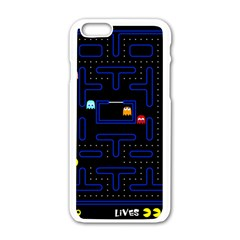 Pac Man Apple Iphone 6/6s White Enamel Case by Valentinaart