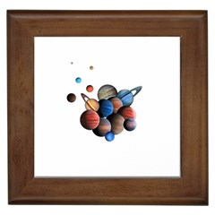 Planets  Framed Tiles by Valentinaart