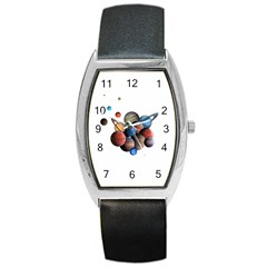 Planets  Barrel Style Metal Watch by Valentinaart