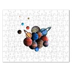 Planets  Rectangular Jigsaw Puzzl by Valentinaart