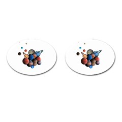 Planets  Cufflinks (oval) by Valentinaart