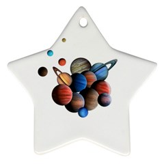 Planets  Star Ornament (two Sides) by Valentinaart