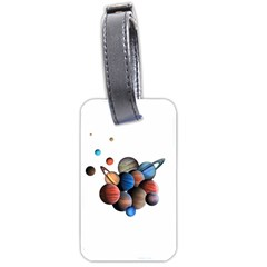Planets  Luggage Tags (two Sides) by Valentinaart
