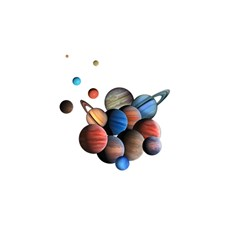 Planets  Shower Curtain 48  X 72  (small)  by Valentinaart