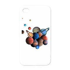 Planets  Apple Iphone 4 Case (white) by Valentinaart