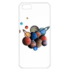 Planets  Apple Iphone 5 Seamless Case (white) by Valentinaart