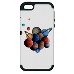 Planets  Apple Iphone 5 Hardshell Case (pc+silicone) by Valentinaart