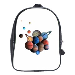 Planets  School Bag (xl) by Valentinaart