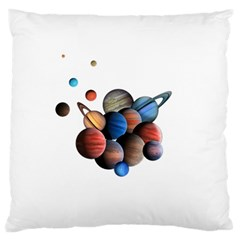 Planets  Large Flano Cushion Case (two Sides) by Valentinaart