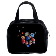 Planets  Classic Handbags (2 Sides) by Valentinaart