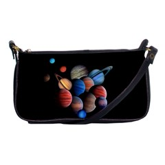 Planets  Shoulder Clutch Bags by Valentinaart