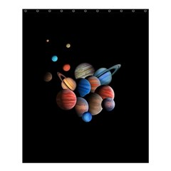 Planets  Shower Curtain 60  X 72  (medium)  by Valentinaart