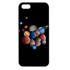 Planets  Apple Iphone 5 Seamless Case (black) by Valentinaart