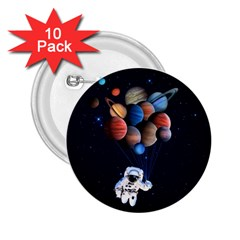 Planets  2 25  Buttons (10 Pack)  by Valentinaart