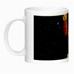 Planets  Night Luminous Mugs by Valentinaart