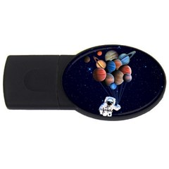 Planets  Usb Flash Drive Oval (4 Gb) by Valentinaart