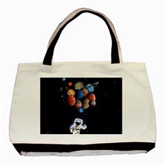 Planets  Basic Tote Bag by Valentinaart
