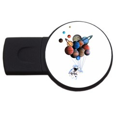 Planets  Usb Flash Drive Round (4 Gb) by Valentinaart
