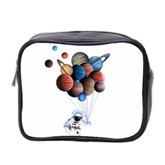 Planets  Mini Toiletries Bag 2 Side by Valentinaart