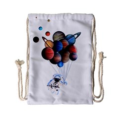 Planets  Drawstring Bag (small) by Valentinaart