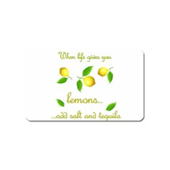 When Life Gives You Lemons Magnet (name Card) by Valentinaart