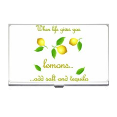 When Life Gives You Lemons Business Card Holders by Valentinaart