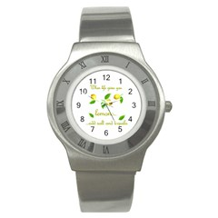 When Life Gives You Lemons Stainless Steel Watch by Valentinaart