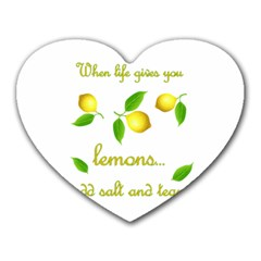 When Life Gives You Lemons Heart Mousepads by Valentinaart