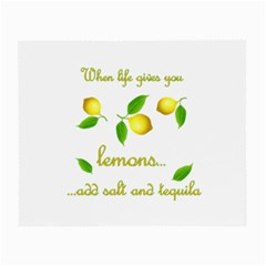When Life Gives You Lemons Small Glasses Cloth (2 Side) by Valentinaart