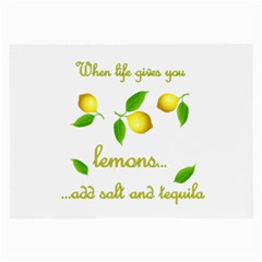 When Life Gives You Lemons Large Glasses Cloth (2 Side) by Valentinaart