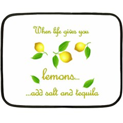 When Life Gives You Lemons Double Sided Fleece Blanket (mini)  by Valentinaart