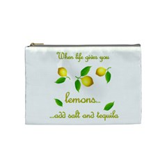 When Life Gives You Lemons Cosmetic Bag (medium)  by Valentinaart