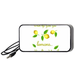 When Life Gives You Lemons Portable Speaker (black) by Valentinaart