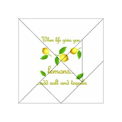 When Life Gives You Lemons Acrylic Tangram Puzzle (4  X 4 ) by Valentinaart