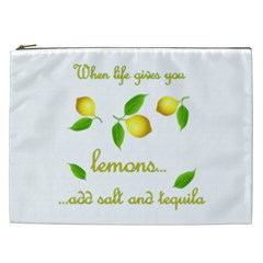 When Life Gives You Lemons Cosmetic Bag (xxl)  by Valentinaart