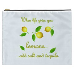 When Life Gives You Lemons Cosmetic Bag (xxxl)  by Valentinaart