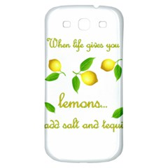 When Life Gives You Lemons Samsung Galaxy S3 S Iii Classic Hardshell Back Case by Valentinaart