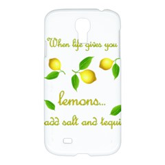 When Life Gives You Lemons Samsung Galaxy S4 I9500/i9505 Hardshell Case by Valentinaart
