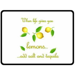 When Life Gives You Lemons Double Sided Fleece Blanket (large)  by Valentinaart