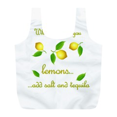 When Life Gives You Lemons Full Print Recycle Bags (l)  by Valentinaart