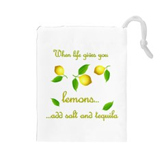 When Life Gives You Lemons Drawstring Pouches (large)